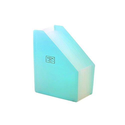 hyfan Desktop-Datei Organizer Box Schreibtisch Vertikal Fächermappe Ordner Kunststoff Dokument Halter für Büro Schulbedarf blau (Desktop Datei-ordner-halter)