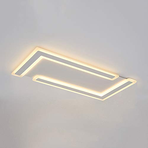 Mogicry 74W/82W Quadratisches weißes Acrylaluminium umweltfreundliche Beleuchtung Dimmable ultradünne kommerzielle LED-Glaslampendekorationbeleuchtung LED-Leuchte Haushalt Energieeinsparung LED-Decken (Kommerzielle Led-weihnachtsbeleuchtung)
