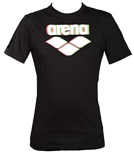 arena M Essential Logo S/S Tee, kurzärmliges Shirt für Herren L Schwarz -