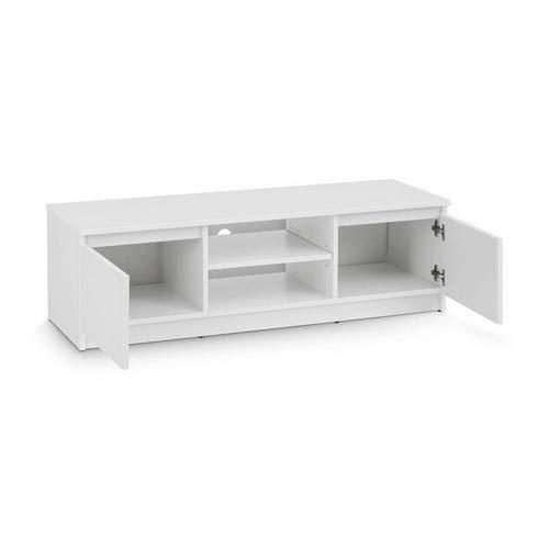 TV-Lowboard Board Schrank Fernsehtisch TV-Möbel (Weiß) - 4