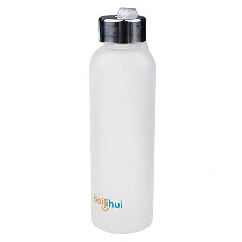 600 ml Nueva fuga de frutas Jugo Tight Sport portátil de viaje taza de la botella de agua (Blanc)