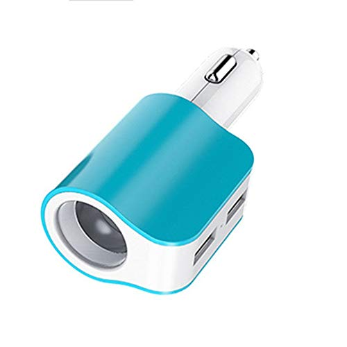 LIUXING Kfz-Adapter Dual USB Zigarettenanzünder Wireless Car Charger Mount Schnellladung for Smartphones & Tablets, Videospiel-Controller (Farbe : Blau, Größe : As Shown) -