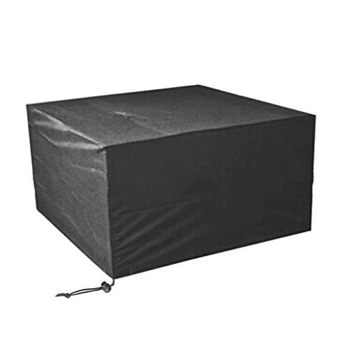 GLP Oxford Cloth Outdoor Gartenmöbel Wasserdichte Staubschutz Gartentisch Und Stuhl Sonnencreme Maschine Abdeckung Eine Vielzahl Von Größen Erhältlich Schwarz (Size : 350x260x90cm)