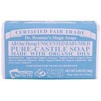 Dr. Bronner's Organic Pure Castile Bar Soap, - Baby-mild - 5 oz - 2 pk by Dr. Bronner's (Bath Soap Bar)