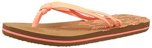 O'Neill - Fw 3 Strap Ditsy Flip Flop, Scarpe da Spiaggia e Piscina Donna Pink (Fluoro Peach)
