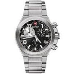 Victorinox Swiss Army 241158 - Reloj analógico de cuarzo para hombre, correa de acero inoxidable color plateado