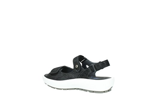 Wolky Womens Rio Leather Sandals 421 anthracite suede