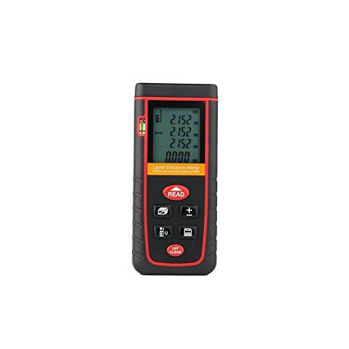MCTECH Digitaler Laser-Entfernungsmesser Distanzmessgerät Distanzmesser RZ-S80 Für Distanz & Winkelmessung, Bereich & Volumenberechnung (0,05-80 m Messbereich, +/- 2 mm Messgenauigkeit) -