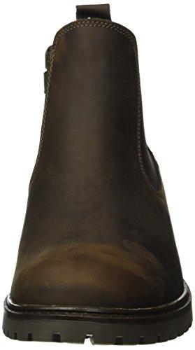 Lepi 4112leq, Bottes courtes avec doublure chaude fille Marron - Braun (4112 C.02 T.Moro)
