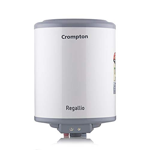 Crompton Regallio 5 Star-Rated ASWH-1810 10LTR(2KW) Storage Water Heater (White and Grey)