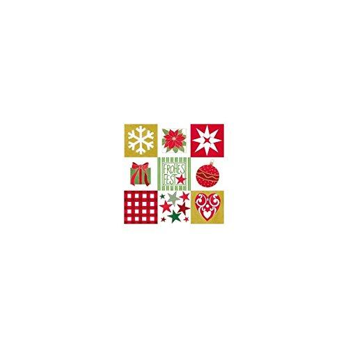 (Susy Card 11384633 Serviette, Tissue bedruckt, eingeschweißt, 3-lagig, Motiv Weihnachtsschmuck, 33 x 33 cm, 20-er Packung, blau)