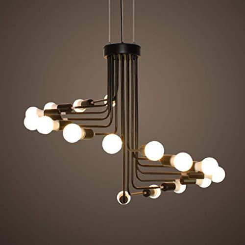 HAODAMAI Lampe suspendue lustres Plafonniers Suspension Suspension Vintage Spiral Staircase fer plafond lumières lampe Chambre HAODAMAI (Size : 16heads)