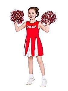 (Girls Cheerleader - Red 2016 Kids Costume)