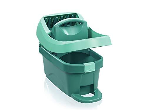 Leifheit Wischtuchpresse Profi XL mit Fußbedienung, Putzen mit Bodenwischer ohne Bücken, 8 Liter Eimer mit Pressaufsatz für Wischer und Tragegriff