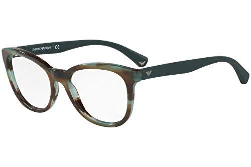 Emporio Armani EA3105F Eyeglass Frames 5388 - Striped Green 54mm