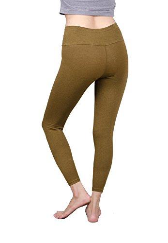 Lofbaz Donna Pantaloni Flared Leggings Jeggings Pantaloni da Yoga Fitnes Turmeric (Regular)