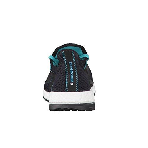 adidas Pureboost X, Chaussures de Running Entrainement Mixte Adulte Noir / vert (noir essentiel / vert impact / noir essentiel)