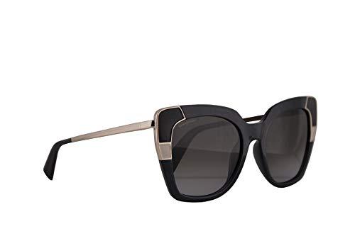 Salvatore ferragamo donne sf889s occhiali da sole w/grey gradient lens 52 millimetri 057 sf 889s cristallo grigio grande