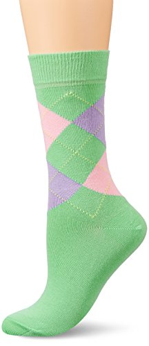 Burlington Damen Socken Queen, Mehrfarbig (Spring Bud 7521), 36/41