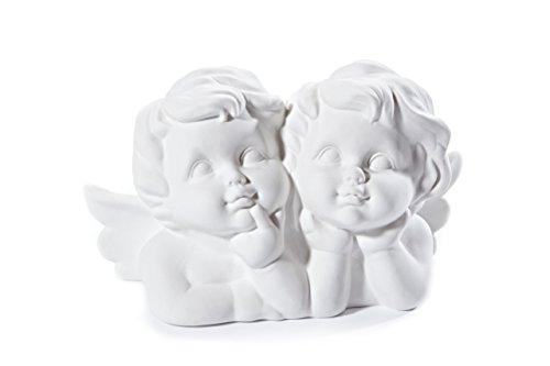 Heitmann deco 91118statuetta coppia di angeli, porcellana, bianco, 20x 9x 12cm