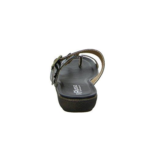 Alyssa 271033 Damen Pantolette bis 30mm Absatz Schwarz (Schwarz)