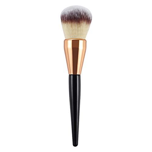 Berimaterry ❤️ Maquillage Unique pour Femmes Grand Pinceau Maquillage Pinceau Pointe PoignéE Poudre Blush Pinceau Miel Poudre Outil De Maquillage B