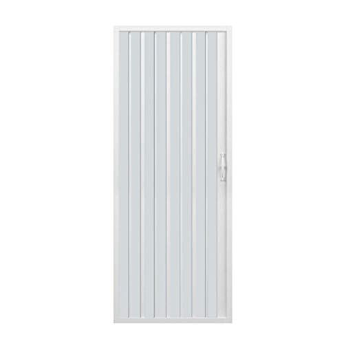 Puerta de ducha de plástico PVC, mod.Vergine con apertura lateral, blanco