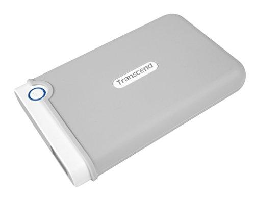 Transcend TS2TSJM100 - Disco duro externo de 2 TB, gris y blanco