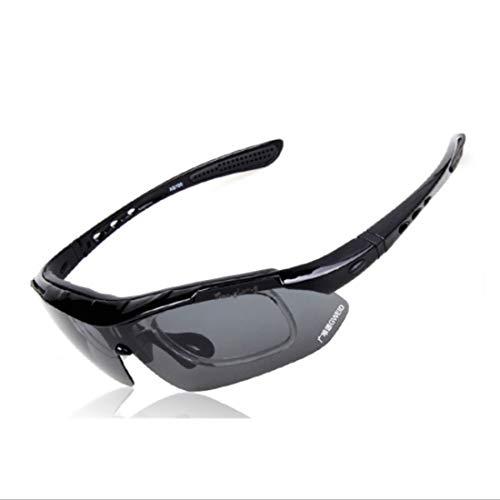 Chengleilei Polarisierte Sport-Sonnenbrille mit 5-teiligen austauschbaren Gläsern für Männer Frauen Clip-on-UV-Schutz Sonnenbrille (Farbe : A003)