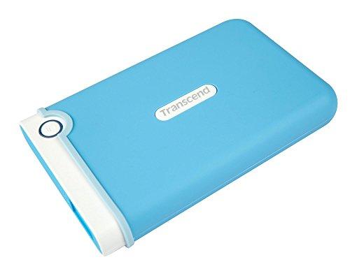 Transcend StoreJet 25M3B 2 TB Externe Festplatte (6,4 cm (2,5 Zoll), USB 3.0) hellblau