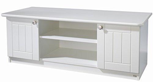 roba Lowboard Dreamworld 3 breit, Sideboard mit 2 Fächern und 2 Türen, weißes Schränkchen für Kinderzimmer und Jugendzimmer