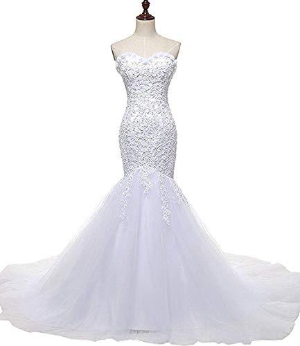 Hochzeitskleid Meerjungfrau aus Tüll ohne Ärmel