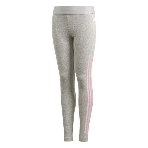 adidas Mädchen Must Haves 3-Streifen Tights, Medium Grey Heather/True Pink, 140