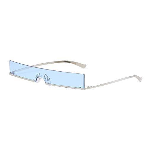 IPOTCH Rahmenlose Sonnenbrille Unisex Quadratische Shades Brille - Blau