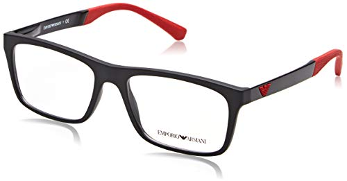 Emporio Armani 0EA3101 Optical Frames, Schwarz (Black Rubber), 55