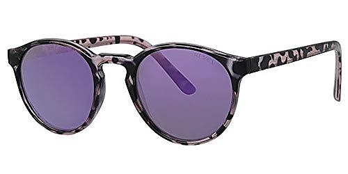Eyewear World Sonnenbrille, polarisiert, inklusive Tasche und gelbem Nackenband, reflektierende Gläser mit blauem Spiegel, reflektierend