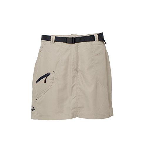 Deproc Active Damen Granby Skort Kurzer Rock mit Innen Eingearbeitem Shorts, Sand, 48 (Shorts Damen Active)