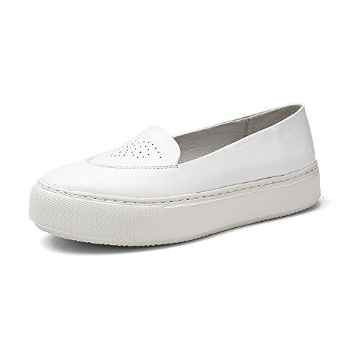 Chaussures légères/Pied sculpté plateforme shoes/ Lady chaussures plates avec tête ronde A
