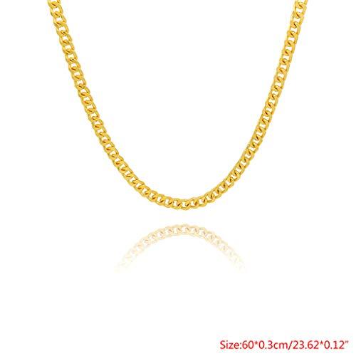 d815c4216ef3 Gjyia Collar de Oro 60 75 cm Cadena Hip Hop Joyería de Los Hombres de