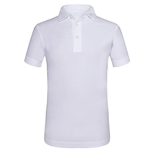 JITIMAO Jungen Polo Shirts Golf Funktional T-Shirt, Weiß - 150 (Fade-jungen-t-shirt)