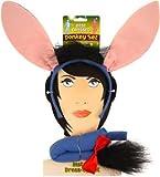Déguisement accessoires d'âne avec les oreilles sur serre-tête + une queue. Idéal pour les enterrements de vie de garçon ou de jeune fille. ( X12 )