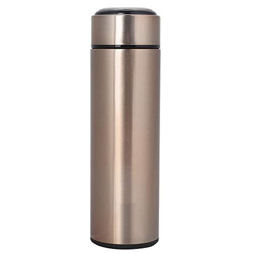 Edelstahl-Vakuum-Thermobecher, Isolierbecher Vakuum Tee Kaffee Wasserflasche für Büro, Camping, Fahren, Picknicks, Fitness, BPA frei(Gold)