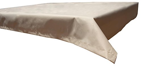 beo Table d'extérieur Plafond rectangulaire imperméable, 130 x 230 cm, Beige