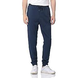 Pantalon Survêtement Homme, Pantalon de Jogging & Training, Jogger Sport PH-28(M,Blue)