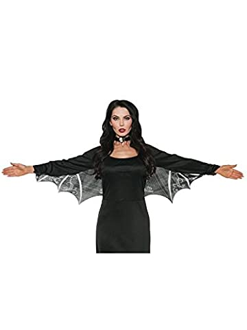 Bat Wings Costume Uk - Underwraps Detailed Lace Bat Wings Womens Gothic