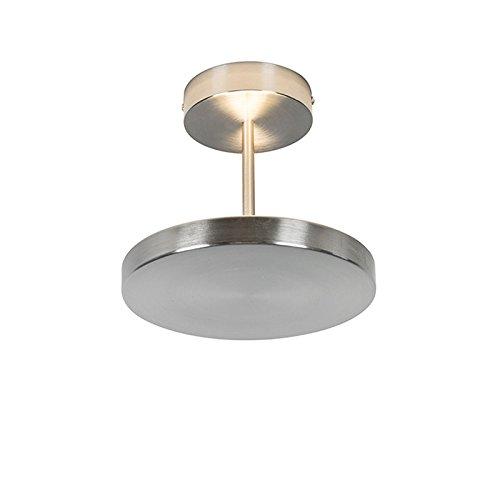 euchte / Deckenlampe / Lampe / Leuchte Disco Stahl / Silber / nickel matt / Innenbeleuchtung / Wohnzimmer / Schlafzimmer / Küche Glas / Metall / Rund inklusive LED (nicht austausch (Disco Deckenleuchte)