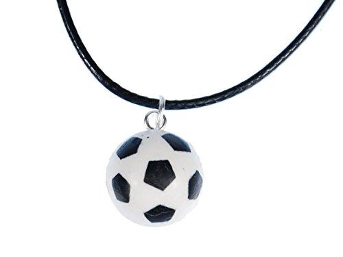 Kette Halskette Leder Ball EM WM Sport Sportler Tor Fußballer ()