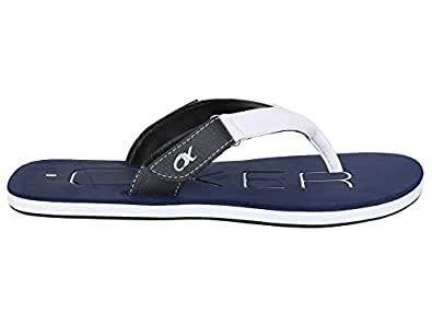 Ox Oxer Flip Flops Casual Slippers for Mens Style: RR-486-Blue, Size: 10