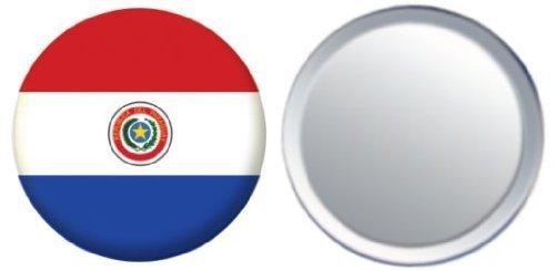 Miroir insigne de bouton Paraguay drapeau - 58mm
