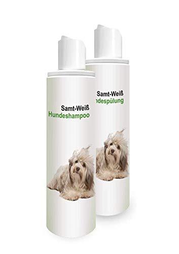 SM-55 Kosmetik 250ml Hundeshampoo+250ml Hundespülung Samt-Weiß-Pflegeset